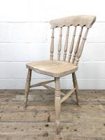 Set of Four Antique Spindle Back Kitchen Chairs (7 of 9)