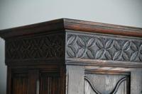 Gothic Revival Oak Cupboard (7 of 12)