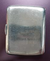 Sterling Silver Cigarette Case Engraved REB Monogram to Front (2 of 4)