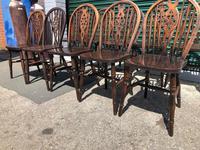 Harlequin Set 10 Ash & Elm Kitchen Chairs (9 of 10)