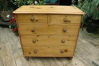 Lovely Old Victorian Pine Chest of Drawers - We Deliver! (2 of 7)