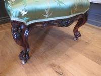 Carved Walnut Ladies Chair New Upholstery (5 of 7)