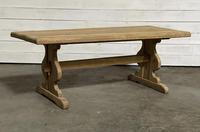 French Oak Trestle Farmhouse Dining Table (5 of 14)