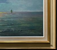 Andries Debeuf Flemish, Stunning Large Moonlit Seascape Oil Painting (11 of 13)