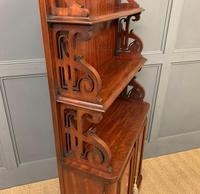 Charming Victorian Mahogany Waterfall Bookcase (8 of 12)
