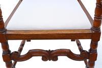 Oak Armchair Elbow Desk Chair C1915 Charles II Style (8 of 8)