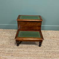 Stunning Victorian Mahogany Antique Library Steps (2 of 4)