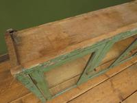 Antique Glazed Wooden Indian Wall Cabinet with Chippy Old Turquoise Paint (9 of 18)