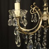 Italian 5 Light Silver Gilded Chandelier (3 of 10)