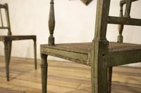 Charming Near Pair of Regency Green Painted Occasional / Elbow Chairs (9 of 14)
