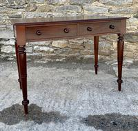 Antique Victorian Mahogany Two Drawer Side Table (13 of 20)