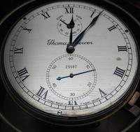 Original Thomas Mercer 2-day Marine Chronometer Ships Clock– Chain Fusee Earnshaws Detent Escapement Box & Key (13 of 14)
