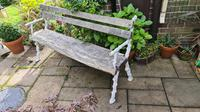 19th Century Cast-iron and Oak Garden Bench (2 of 6)