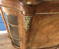 Victorian Burr Walnut Inlaid Credenza With Ormolu Mounts (24 of 27)