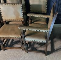 Set of Eight Oak Dining Chairs (9 of 14)