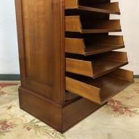 French Tambour Fronted Cherrywood Filing Cabinet with Haberdashery Style Trays (11 of 12)