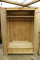 Fabulous & Large Old Pine Double 'Knock Down' Wardrobe - We Deliver! (2 of 18)