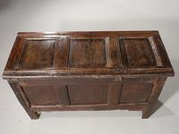 Early 18th Century Oak Panelled Coffer (5 of 7)