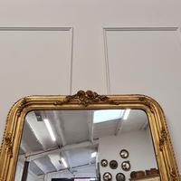 Antique French Gilded Flower Mirror (6 of 8)