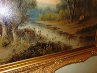 Large Victorian Oil Landscape by W.Wilson (5 of 5)