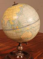 English Globe With Its Wooden Base - Early 20th Century (3 of 7)