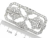 4.53ct Diamond & Platinum Brooch - Art Deco - French c.1930 (7 of 9)