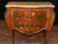Antique French Commode Nightstand - Bombe Chest (3 of 8)