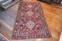 Antique Khamseh tribal rug 217x124cm (5 of 10)