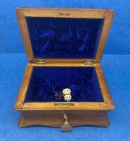 William IV Birch Penwork Jewellery Box (9 of 16)