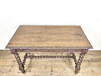 Antique 19th Century Carved Oak Table (3 of 11)