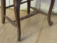 Six Oak & Rush Seated Dining Chairs (5 of 8)