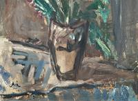 Large Rustic 19th Century French Impressionist Still Life Floral Oil Painting - Minor TLC (5 of 12)