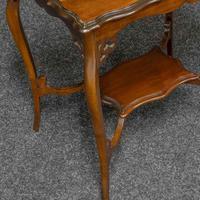 Edwardian Mahogany Window Table (7 of 8)