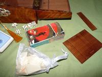 Solid Figured Oak Games Box + Accessories c.1890 (11 of 18)