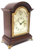Impressive Mahogany Edwardian Bracket Clock Timepiece Mantel Clock (2 of 8)