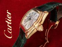Cartier Extra Large 18ct Gold Roadster Wristwatch (2 of 6)
