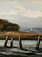 Edward Elliot (1850-1916) Superb Vintage Fishing Estuary Landscape Oil Painting (6 of 12)