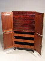 Very Rare Regency Period Mahogany Two Part Campaign Cabinet (5 of 6)
