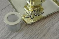 Fine English Victorian Brass Inkwell in the Japanese Inspired Style c.1880 (3 of 7)
