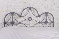 Lovely al Iron Three Hoop no End Double Bed (5 of 9)