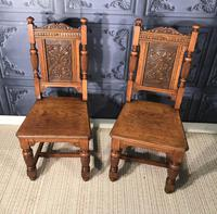 Pair of Victorian Oak Hall Chairs (2 of 17)