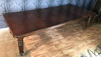 Victorian Mahogany Extending Ten Seat Dining Table with Three Leaves (8 of 8)