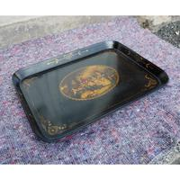 Regency Oblong Lacquered & Painted Tray (5 of 6)