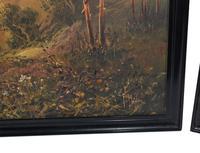 Pair of Romantic Oil Paintings English Landscape Barnstable Devon (3 of 9)