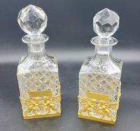 Pair of French Ormolu Cut Crystal Decanters Whisky & Cognac (8 of 8)