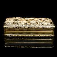 Georgian Solid Silver Gilt Snuff Box With Spectacular Fox Hunting Scene - Edward Smith 1832 (9 of 22)