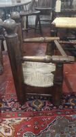 Primitive French Child's Elbow Chair, Sea Grass Seat. Some restoration (3 of 3)