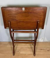 Antique Mahogany Folding Games Coaching Table (8 of 10)