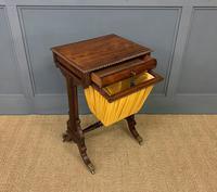 Regency Period Rosewood Work Table (3 of 15)