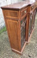 Wonderful Edwardian Inlaid Mahogany Four Door Breakfront Bookcase by Maple & co (14 of 14)